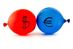 Currency balloons Royalty Free Stock Photo