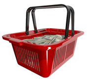 Currency basket Stock Photos