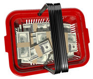 Currency basket Stock Photo