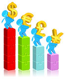 Currency Business Chart. Three dimension style and High Quality Image Stock Photo