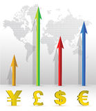 Currency business graph Royalty Free Stock Image