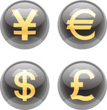 Currency buttons Stock Photo
