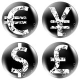 Currency buttons Royalty Free Stock Photo
