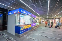 Currency change point in Don Mueang Airport, Bangkok of Thailand. Bangkok- April 18,2019 : Currency change point in Don Mueang Airport, Bangkok of Thailand. Don stock images