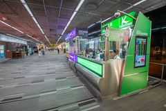 Currency change point in Don Mueang Airport, Bangkok of Thailand. Bangkok- April 18,2019 : Currency change point in Don Mueang Airport, Bangkok of Thailand. Don stock image