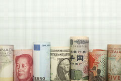 Currency chart Royalty Free Stock Images