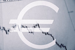Currency chart Stock Images
