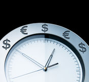 Currency clocks Stock Image