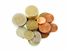 Currency coins Stock Photography