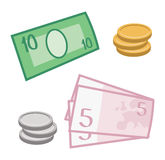 Currency and coins Royalty Free Stock Image