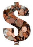 Currency in coins royalty free stock photo