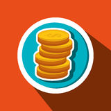 Currency coins money cash. Illustration eps 10 Stock Image