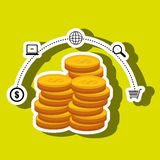 Currency coins money shop Royalty Free Stock Image