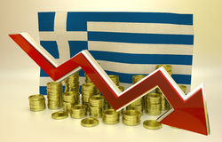 Currency collapse - Greek euro Stock Photo
