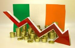Currency collapse - Irish economy Stock Image