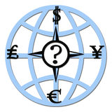 Currency compass Stock Image