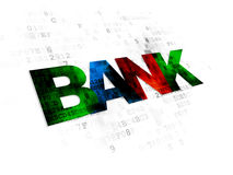 Currency concept: Bank on Digital background Stock Image