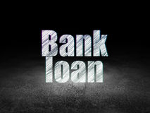 Currency concept: Bank Loan in grunge dark room Royalty Free Stock Images