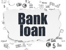 Currency concept: Bank Loan on Torn Paper Royalty Free Stock Photos