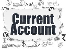 Currency concept: Current Account on Torn Paper background Stock Image