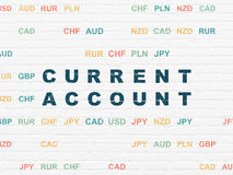 Currency concept: Current Account on wall Stock Photography