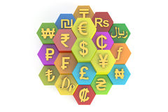 Currency concept, 3D rendering Stock Photo
