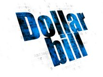 Currency concept: Dollar Bill on Digital background Stock Image