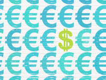 Currency concept: dollar icon on wall background Royalty Free Stock Image