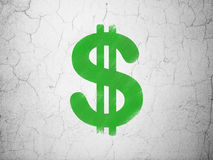 Currency concept: Dollar on wall background Royalty Free Stock Photos