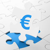 Currency concept: Euro on puzzle background Royalty Free Stock Photography