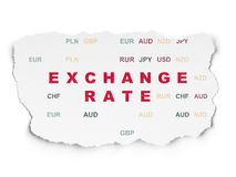 Currency concept: Exchange Rate on Torn Paper background Royalty Free Stock Photo