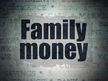 Currency concept: Family Money on Digital Data Paper background. Currency concept: Painted black text Family Money on Digital Data Paper background with   Tag Stock Images