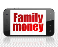 Currency concept: Family Money on Smartphone Stock Images