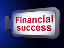 Currency concept: Financial Success on billboard background Royalty Free Stock Photo