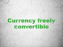 Currency concept: Currency freely Convertible on wall background Stock Photo