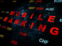 Currency concept: Mobile Banking on Digital Royalty Free Stock Image