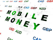 Currency concept: Mobile Money on Digital Stock Images