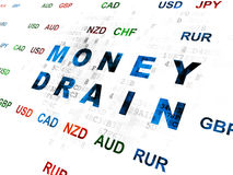 Currency concept: Money Drain on Digital Royalty Free Stock Photography