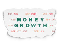 Currency concept: Money Growth on Torn Paper Royalty Free Stock Image