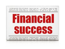 Currency concept: newspaper headline Financial Success. On White background, 3D rendering Royalty Free Stock Image