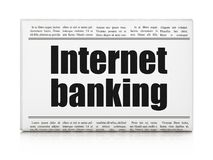 Currency concept: newspaper headline Internet Banking. On White background, 3D rendering Royalty Free Stock Photography