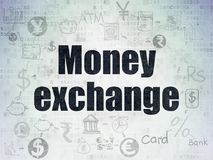 Currency concept: Money Exchange on Digital Data Paper background. Currency concept: Painted black text Money Exchange on Digital Data Paper background with Royalty Free Stock Photography