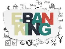 Currency concept: E-Banking on Torn Paper background Royalty Free Stock Images
