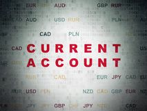 Currency concept: Current Account on Digital Data Paper background Royalty Free Stock Photography