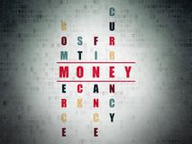 Currency concept: Money in Crossword Puzzle Royalty Free Stock Photo