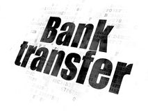 Currency concept: Bank Transfer on Digital background. Currency concept: Pixelated black text Bank Transfer on Digital background Stock Images
