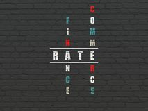 Currency concept: Rate in Crossword Puzzle Royalty Free Stock Photo
