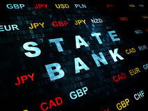 Currency concept: State Bank on Digital background Stock Photography