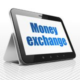 Currency concept: Tablet Computer with Money Exchange on display Stock Images
