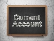 Currency concept: Current Account on chalkboard background Stock Image